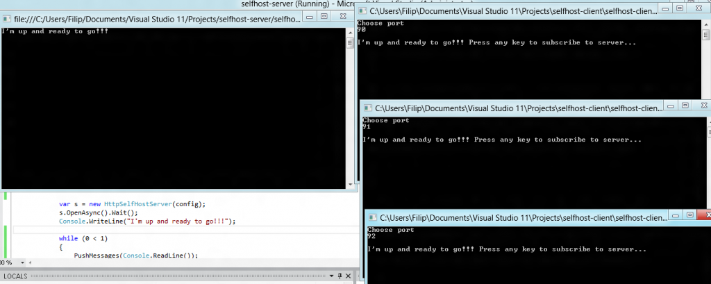 Fun With Asp Net Web Api Push Like Messaging From One