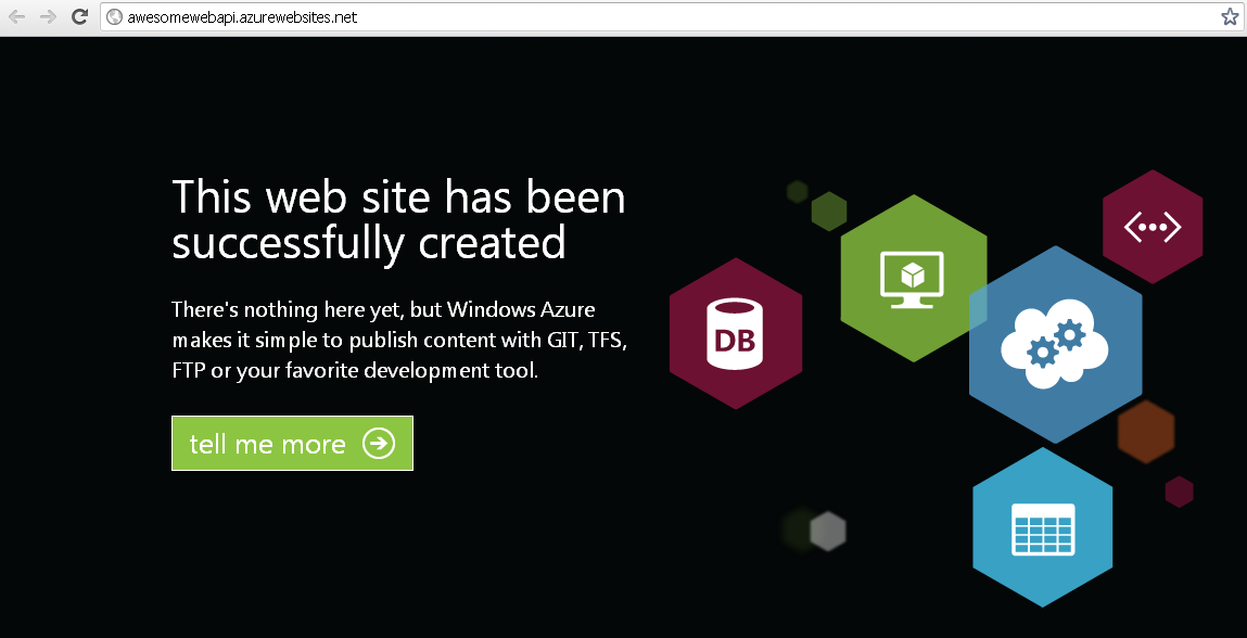 Deploy your ASP NET Web API application to Windows Azure in
